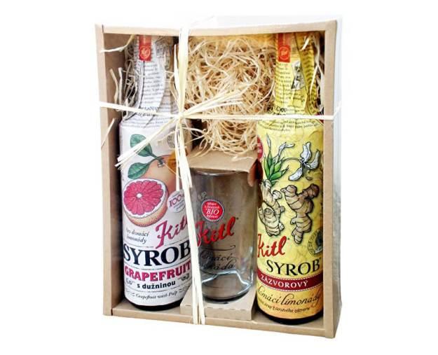 Syrob dárkové balení (2x500ml+sklenička) grapefruit a zázvor (z43283) od www.prozdravi.cz
