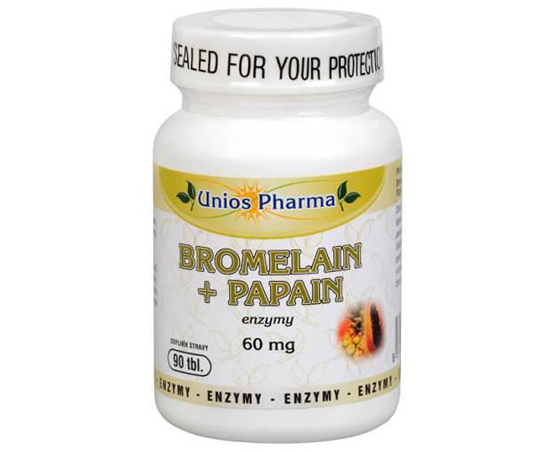 Bromelain + papain 60 mg 90 tbl. (z49985) od www.prozdravi.cz