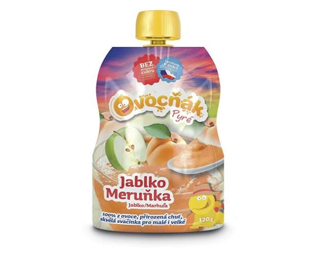 Ovocné pyré jablko meruňka 100% 120g (z52222) od www.prozdravi.cz