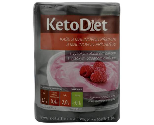 KetoDiet Proteinová malinová kaše 7 x 27 g (z52332) od www.kosmetika.cz