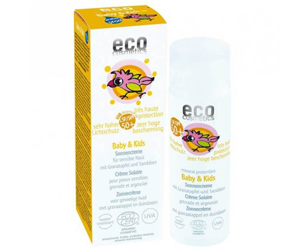 Eco Cosmetics Baby Dětský opalovací krém SPF 50+ BIO 50ml (z53667) od www.kosmetika.cz