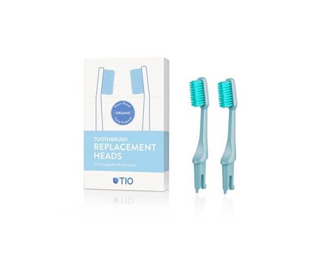 Tio Náhradní hlavice k zubnímu kartáčku (ultra soft) 2 ks - ledovcově modrá (z53696) od www.kosmetika.cz
