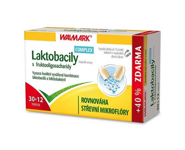 Laktobacily Complex s fruktooligosacharidy 30 tob. + 12 tob. ZDARMA (z55791) od www.prozdravi.cz