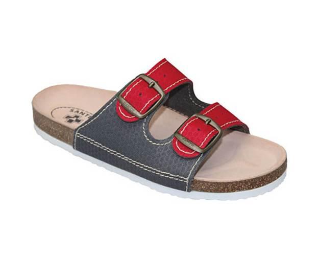 Zdravotní obuv dámská D/21T/911/910/BP červeno-šedá (z55603) od www.prozdravi.cz