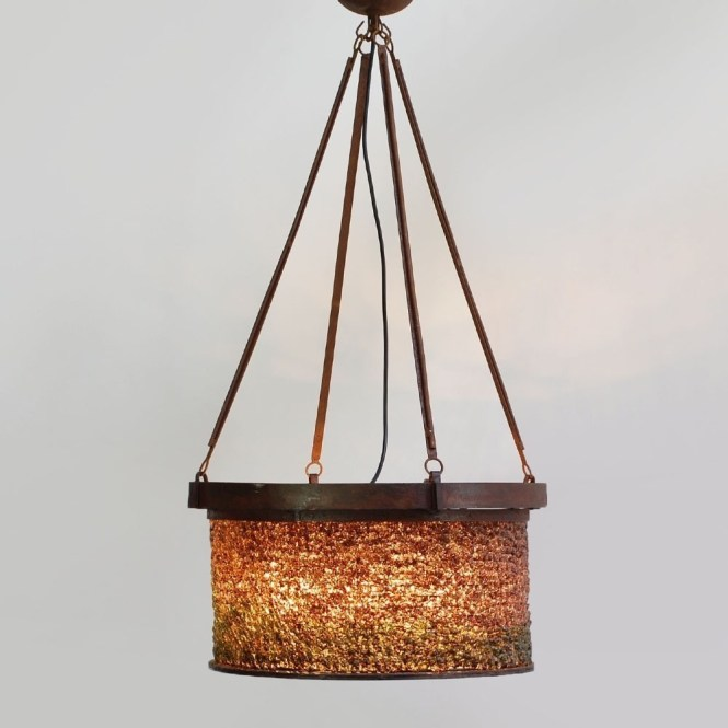 Bohemian Chandelier Hanging Lamp 1950s