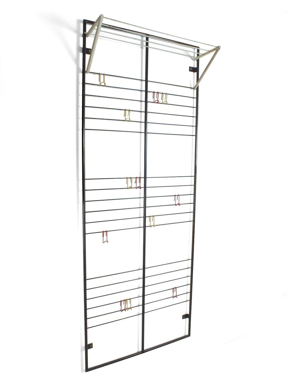 wall or door coat rack with 12 hooks by coen de vries for devo