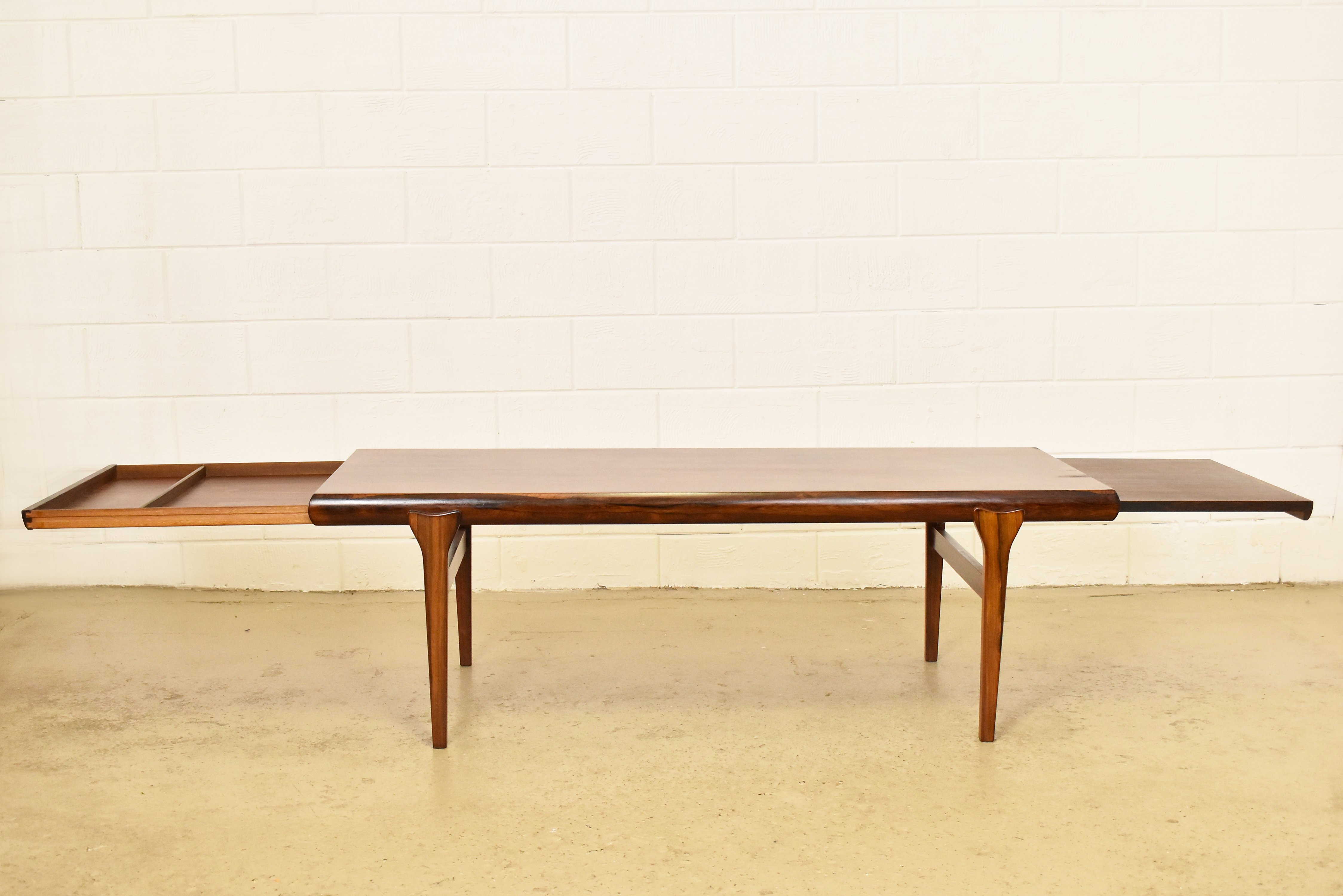 Extra Large Brazilian Rosewood Coffee Table By Johannes Andersen 1960s 62938