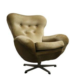 Mid Century Modern Design Egg Swivel Chair 1960 S