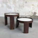 Midcentury Set Of Reversible Stacking Tables By Gianfranco Frattini For Cassina 81782