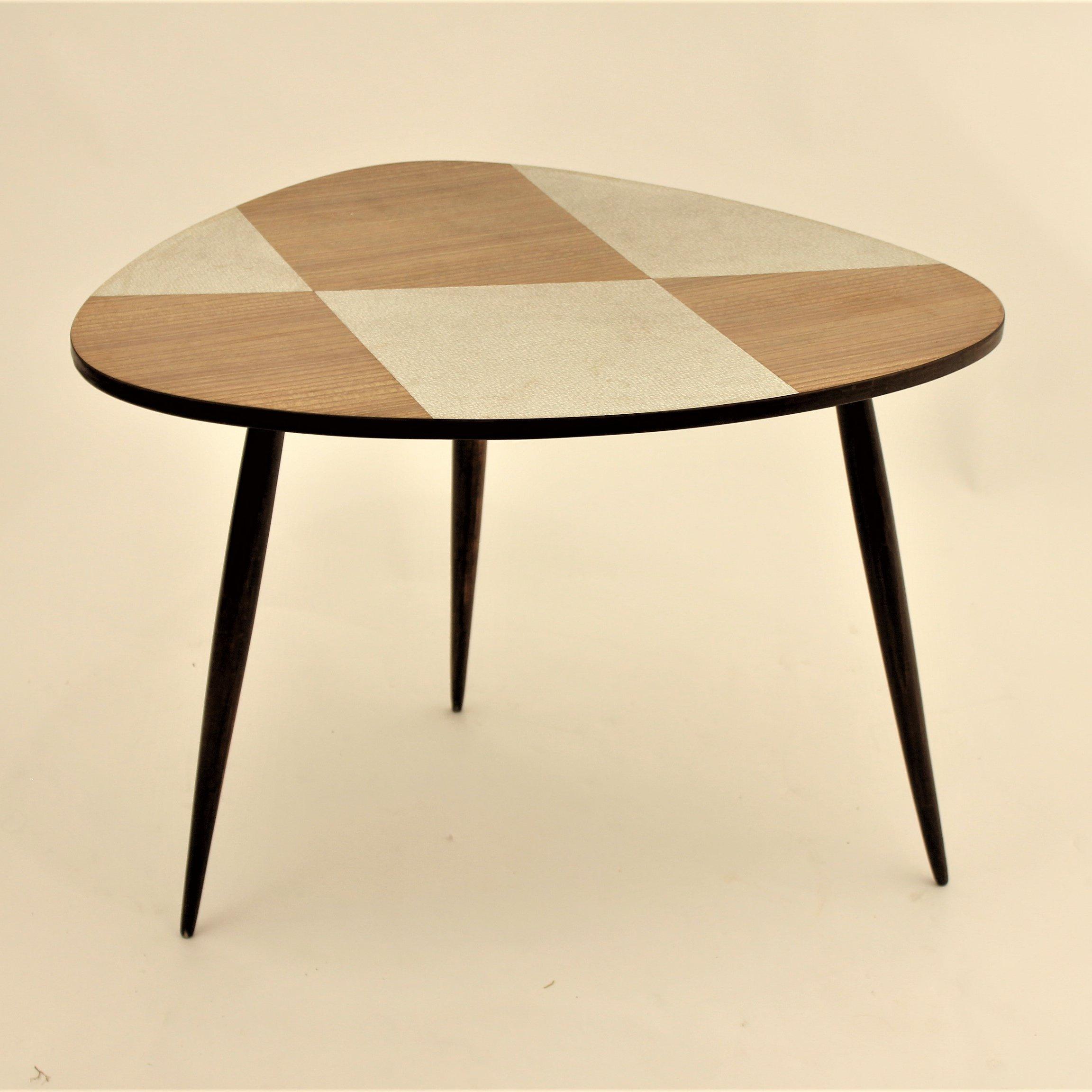 organic shaped wood formica tripod