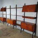 Midcentury Modern Vintage Design Wall Unit By Louis Van Teeffelen For Webe 92525