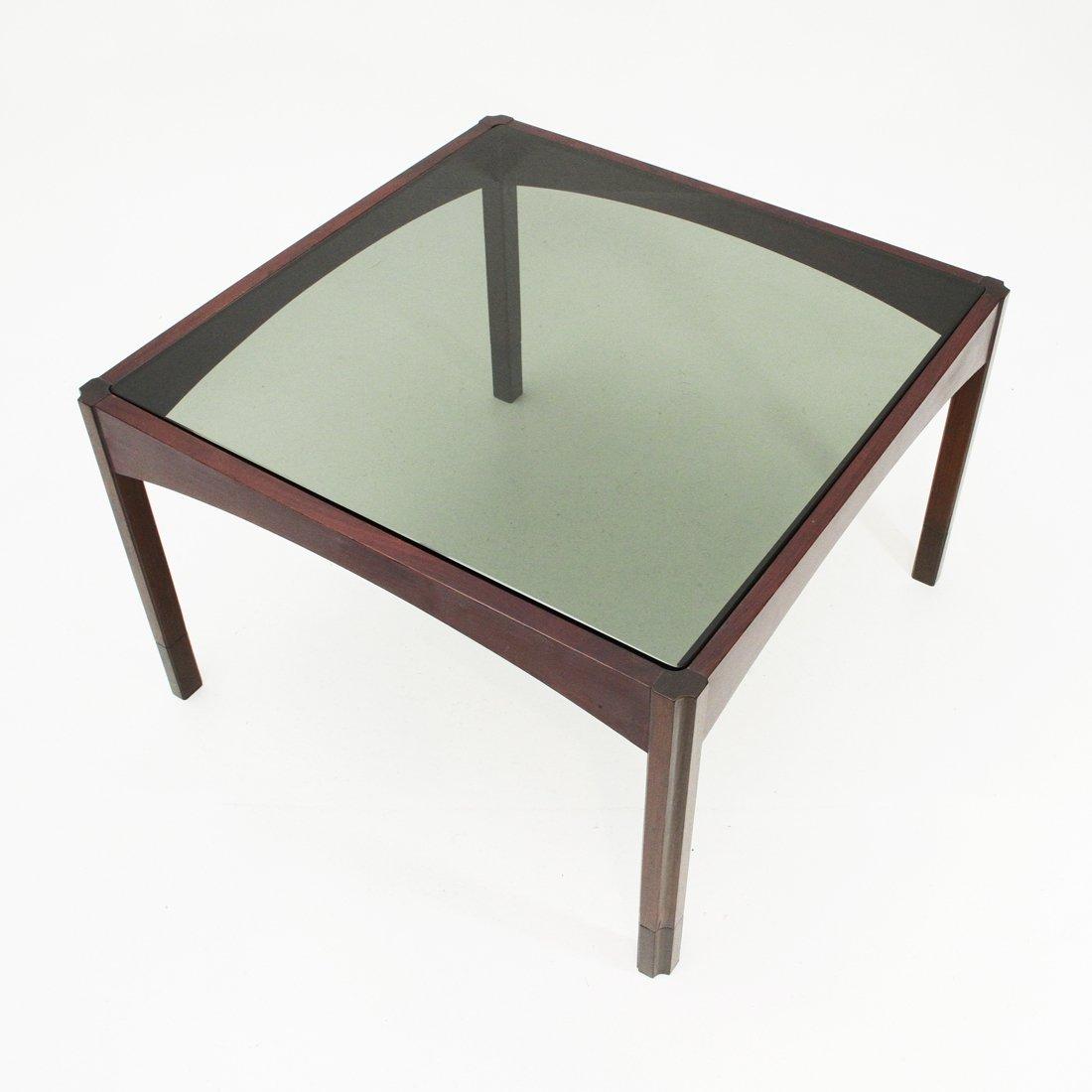 italian mid century square coffee table 1960s