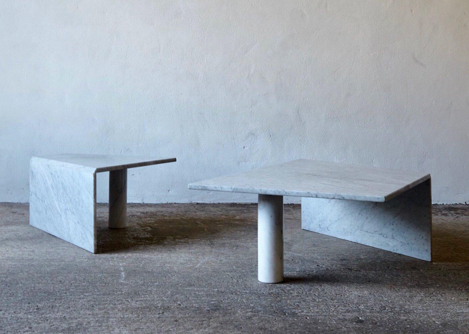 post modern angular stone coffee tables