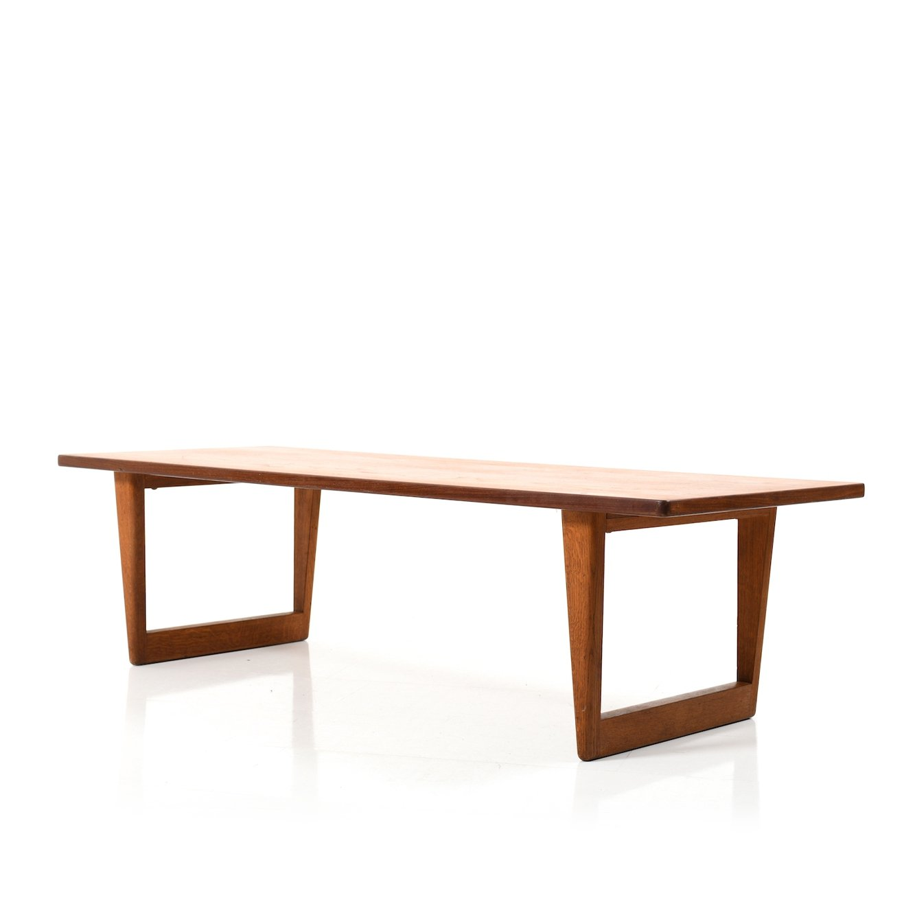 Danish Teak Oak Sofa Table By Borge Mogensen For Fredericia Furniture 1950s 114742