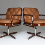 Pair Of Mid Century Modern Office Chairs By Ag Barcelona 1970 S 123233