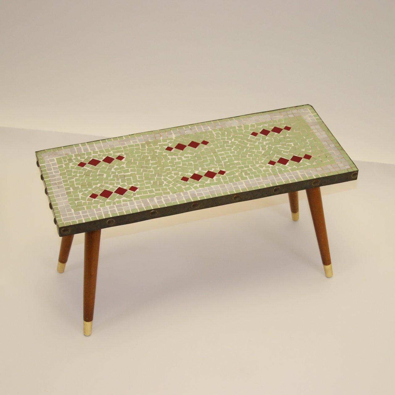 mosaic tile plant table 1950s