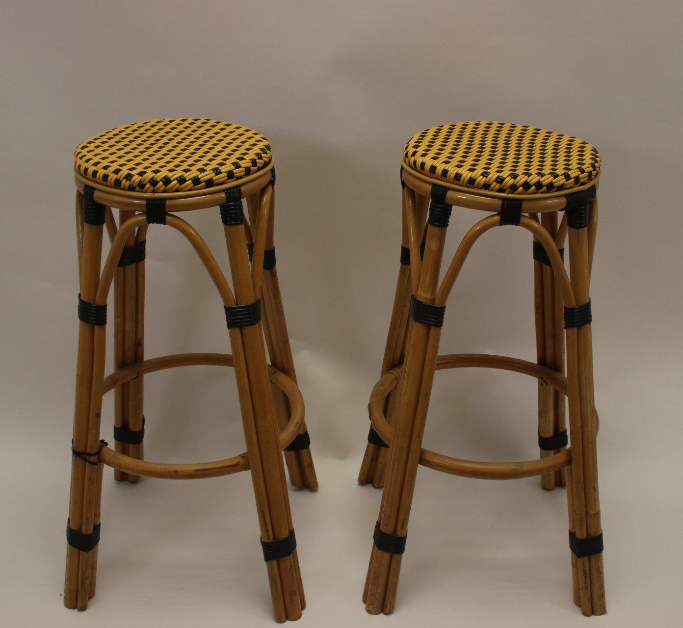 Pair Of Bamboo Bar Stools 1960s 137113