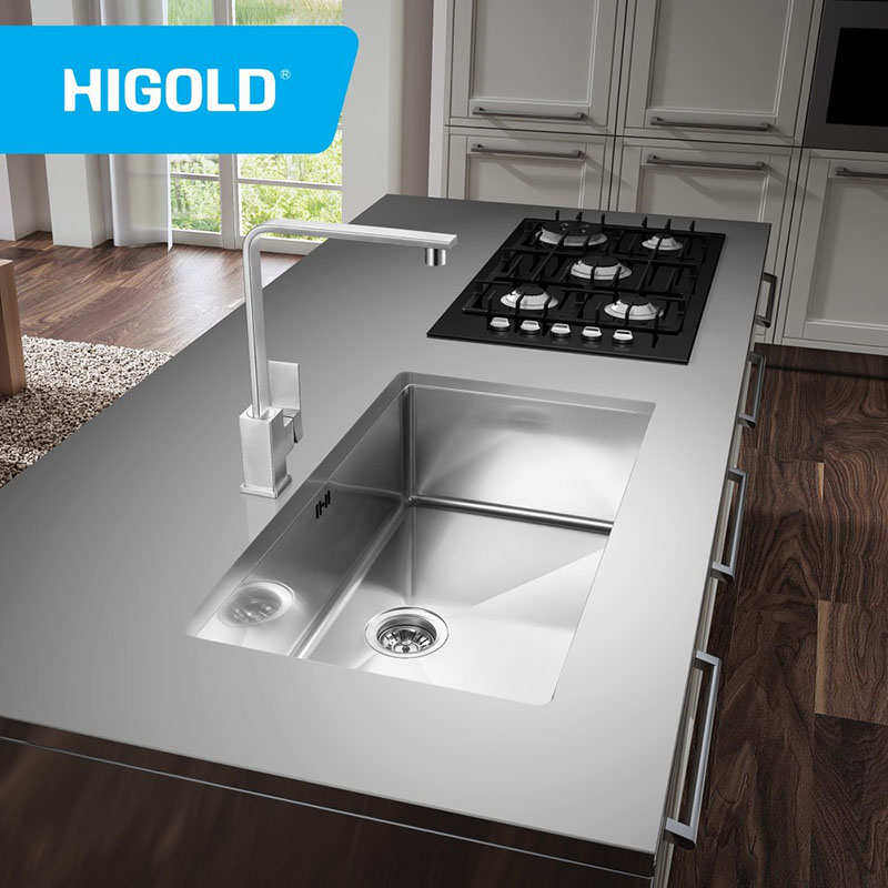 supply best quality large single bowl sus304 stainless steel kitchen sink undermount factory quotes higold group