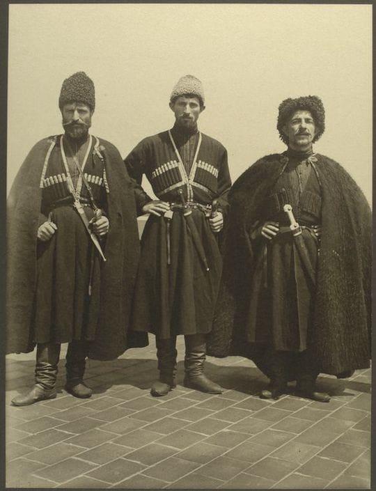 Russian Cossacks. Portraits from Ellis Island, Augustus Sherman.
