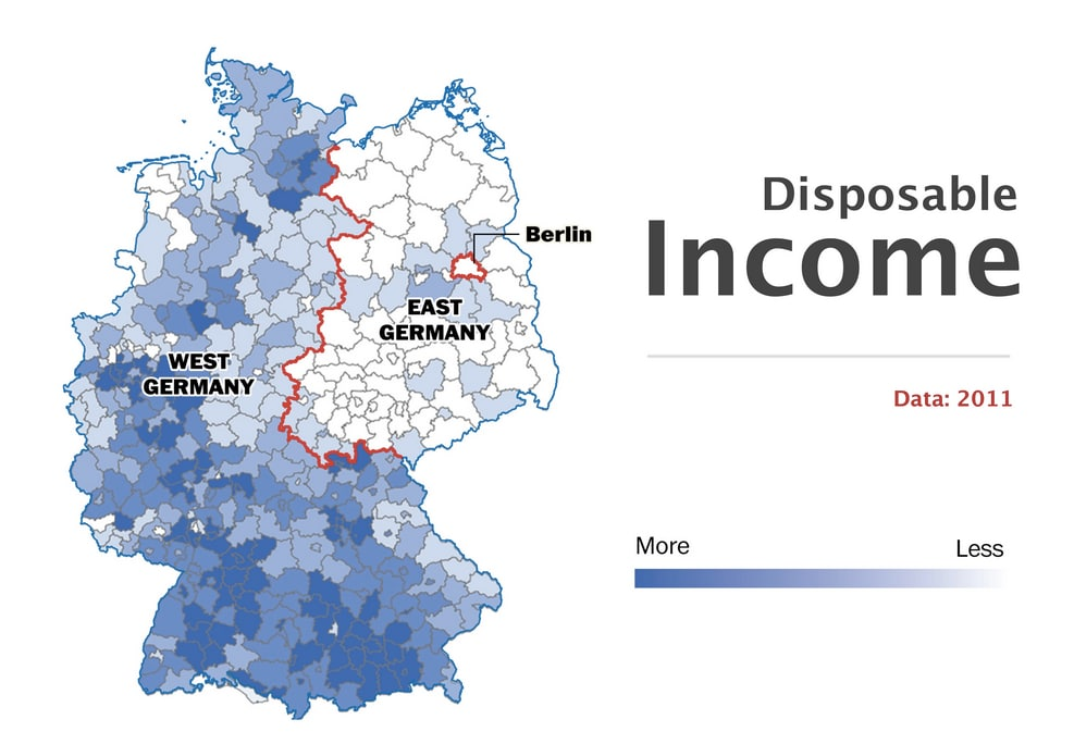 (Source of the following 8 maps: German statistical office. Visualization: Gene Thorp/ The Washington Post)