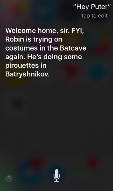 (Screen shot of sassy Siri at work, via iPhone)