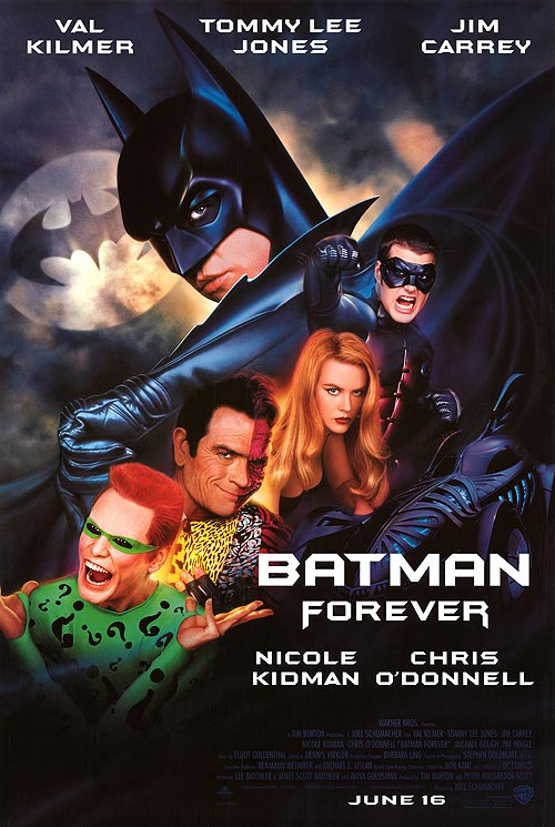 Val Kilmer reportedly clashed with director Joel Schumacher in the actor's lone turn as Batman. (courtesy of WB/DC)