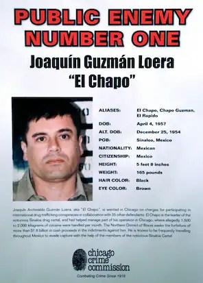 "Joaquin ""El Chapo"" Guzman, head of the Sinaloa drug cartel."