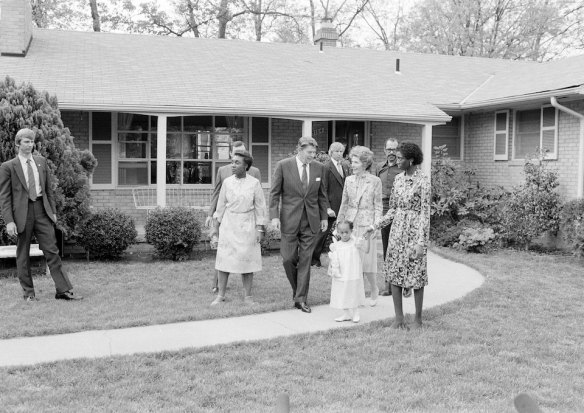 President and Nancy Reagan visit the Butlers of College Park