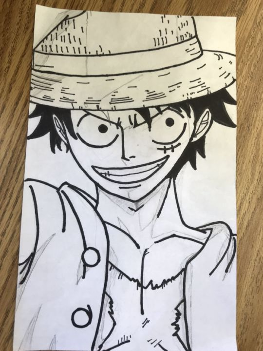 Luffy's left hand doesn't look like luffy. Anime Drawings One Piece Monkey D Luffy Wattpad