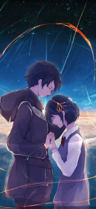 Find and save images from the lockscreen couple collection by ♚naura♚ (nau_chi) on we heart it, your everyday app to get lost in what you love. Secuil Gambar Anime Couple Kimi No Nawa Page 3 Wattpad