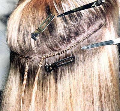 extensiones de pelo material funciones y forma de aplicación web de la belleza