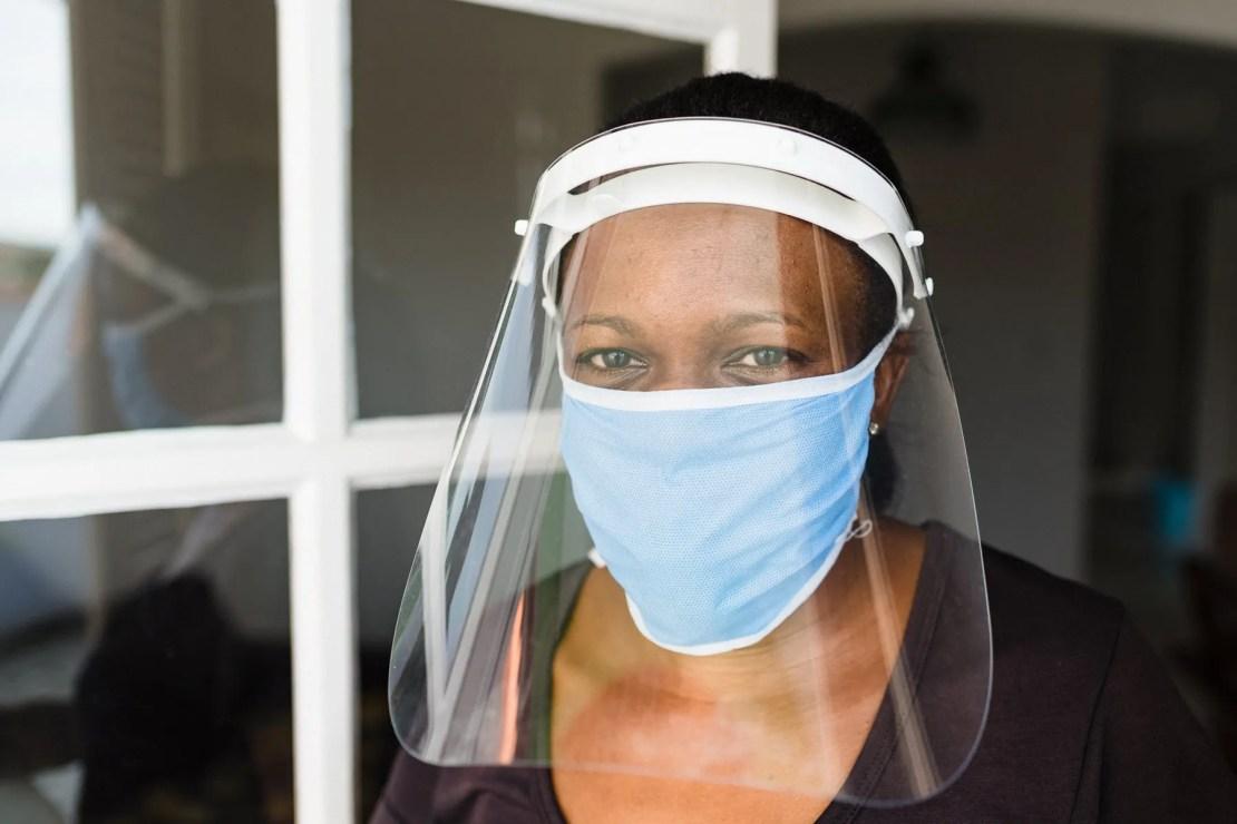 woman face shield mask
