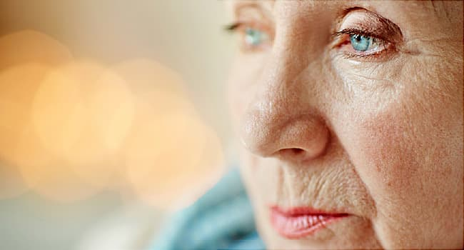 photo of senior woman close up