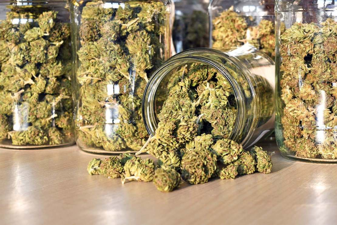 photo of lifestyle marijuana big jar