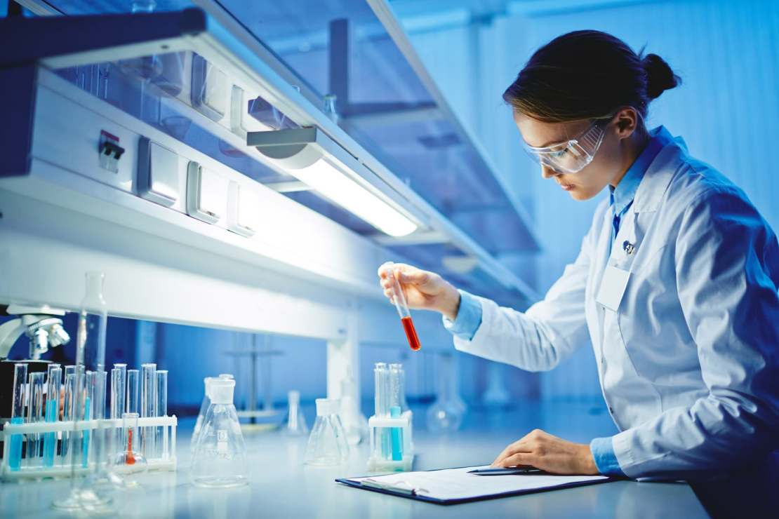photo of lab tech in lab