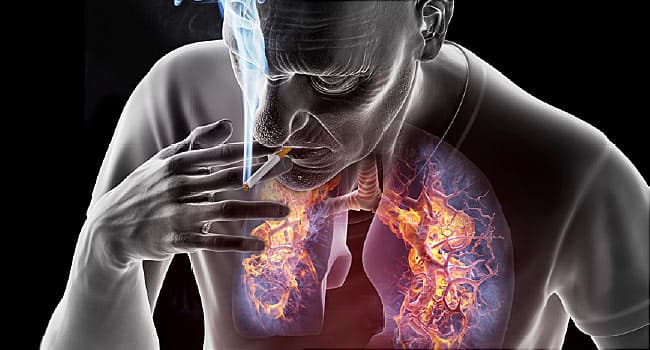 dangers of smoking illustration