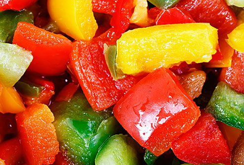 colorful chopped bell peppers