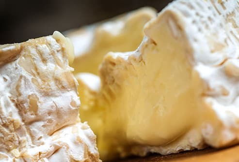 camembert cheese close up