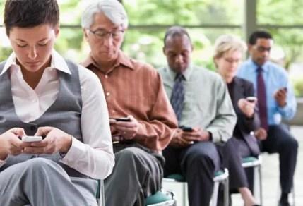 people using mobile phones