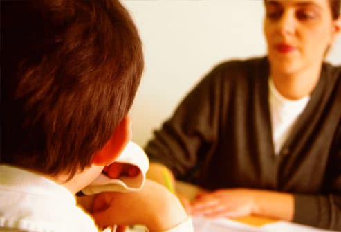 Child in a psychotherapy consultation