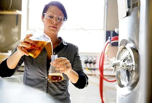 Female beer tester