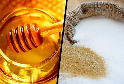 Honey sugar comparison