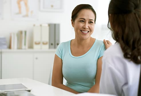 woman consulting with doctor