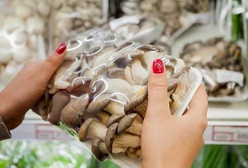 packaged mushrooms