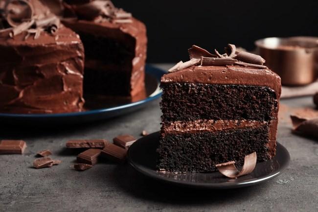 photo of chocolate cake slice
