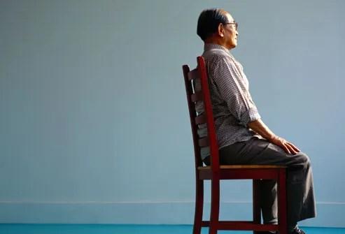 Elderly Man Sitting
