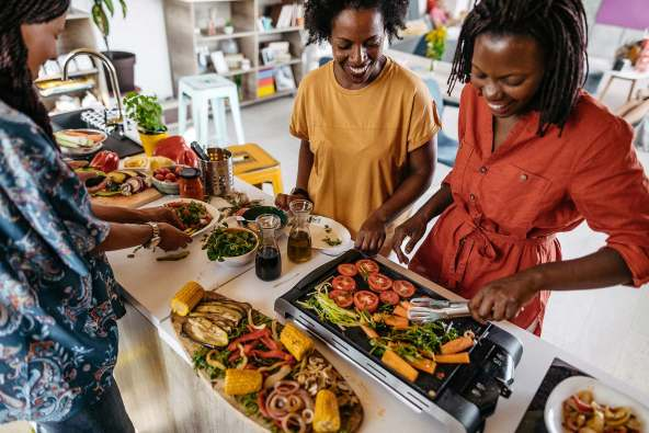 photo of preparing healthy meal