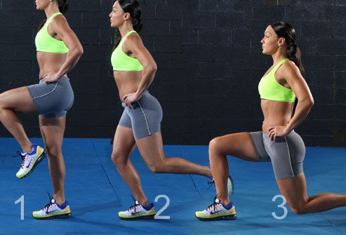 Sequence of a Backward Lunge
