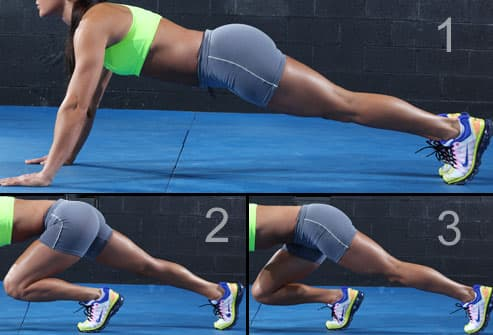 Sequence of the Running Plank