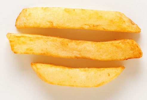 Three thick-cut Potato chips